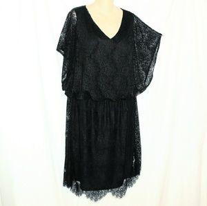 Alfani Gorgeous Lace Overlay Batwing Dress 2X